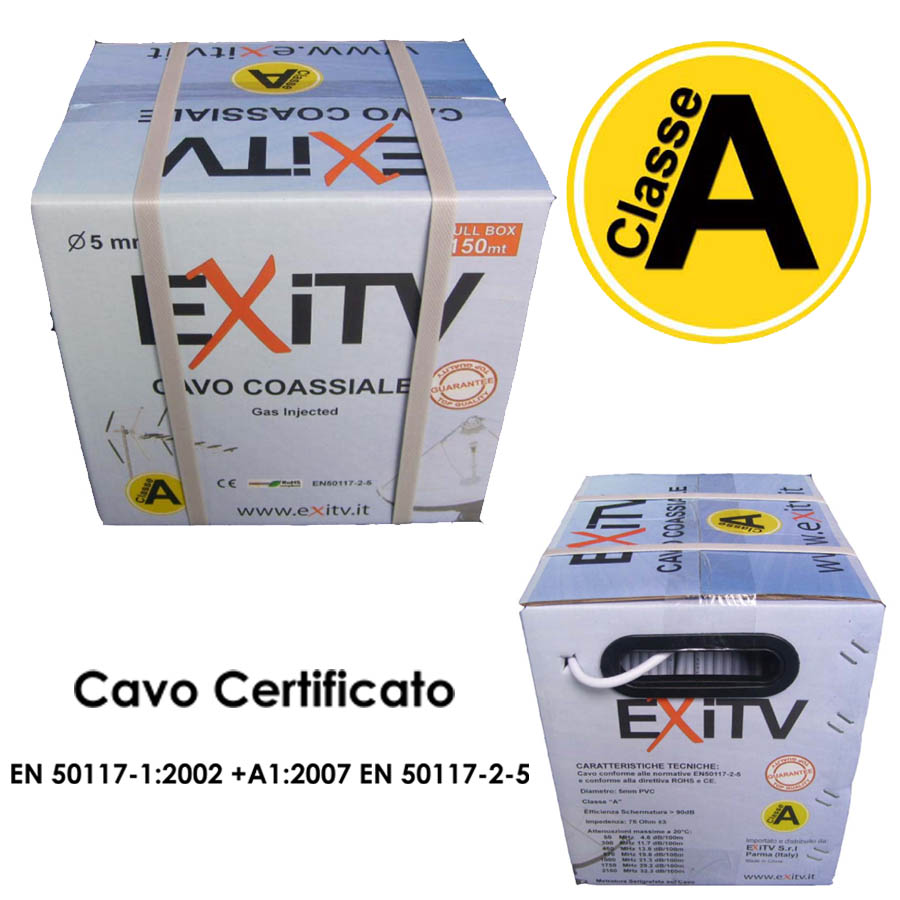 CAVO COASSIALE 5mm classe A