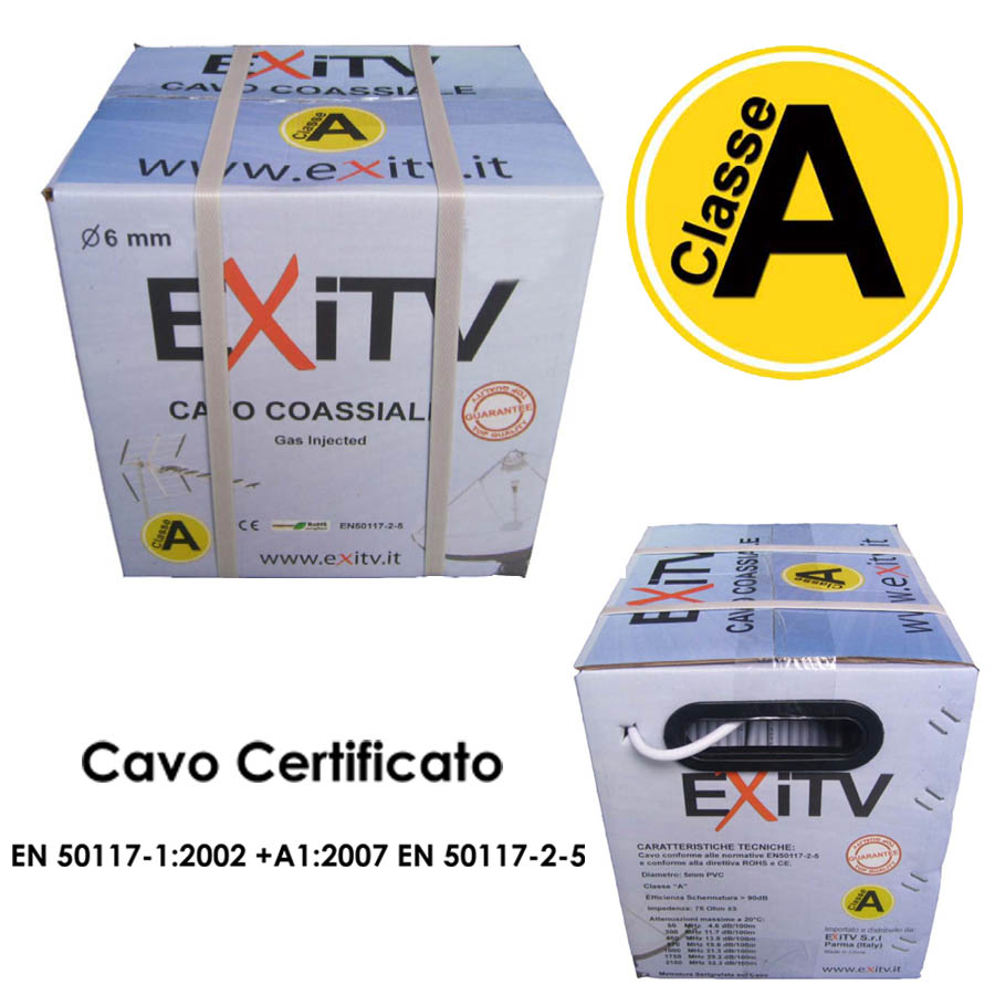 CAVO COASSIALE 6 mm classe A
