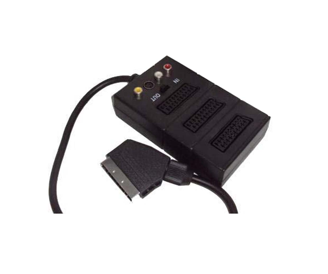 3 SCART + 3 RCA + S-VIDEO + SWITCH