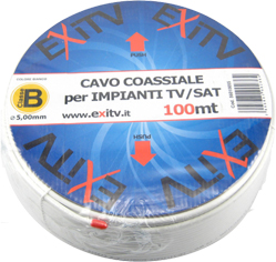 Cavo Coassiale Calsse B 6,7 mm in bobina da 100 mt