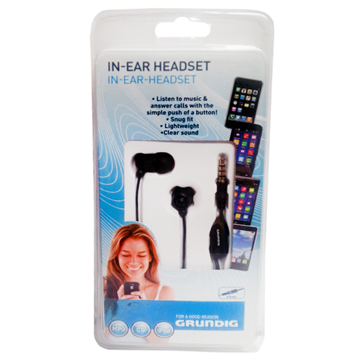 GRUNDIG AURICOLARI IN-EAR STEREO BLACK