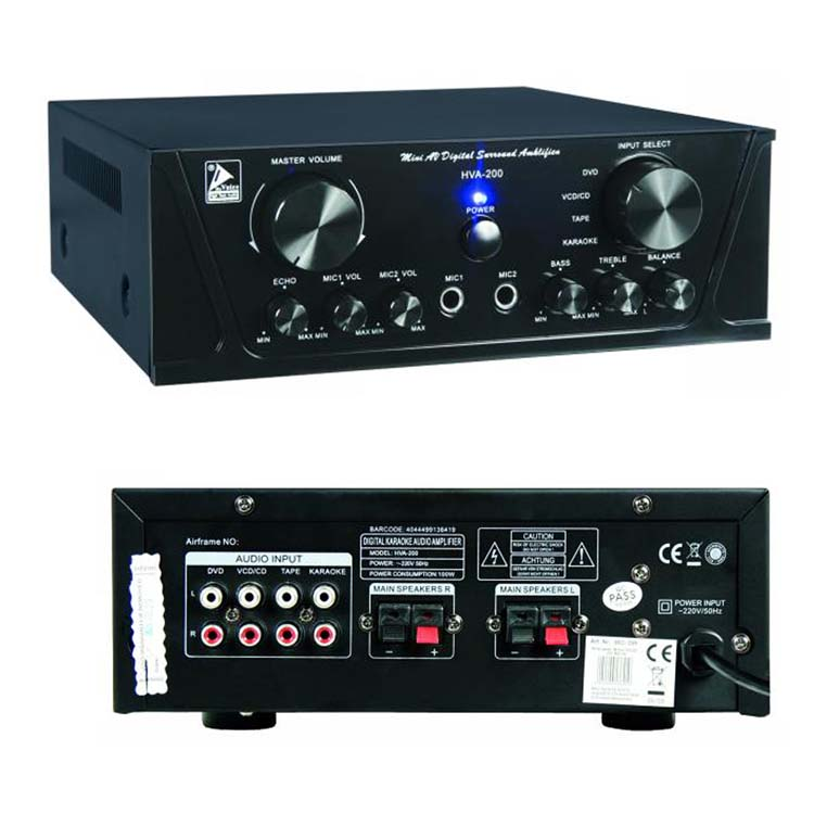 HiFi amplificatore 2 x 100 Watt Nero
