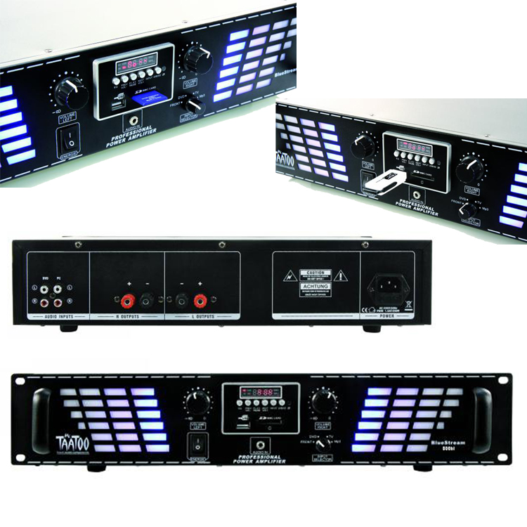 Amplificatori 2x250 W USB / SD