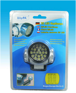 Lampada Frontale con 25 Led ultra luminosi